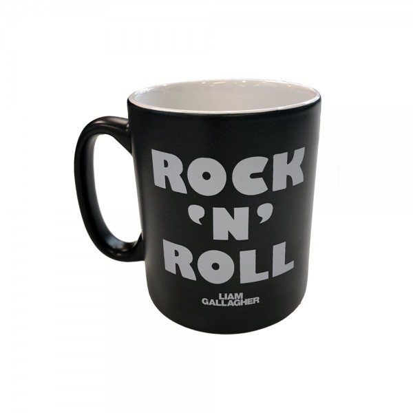 Rock N Roll Black Mug - Liam Gallagher Merch