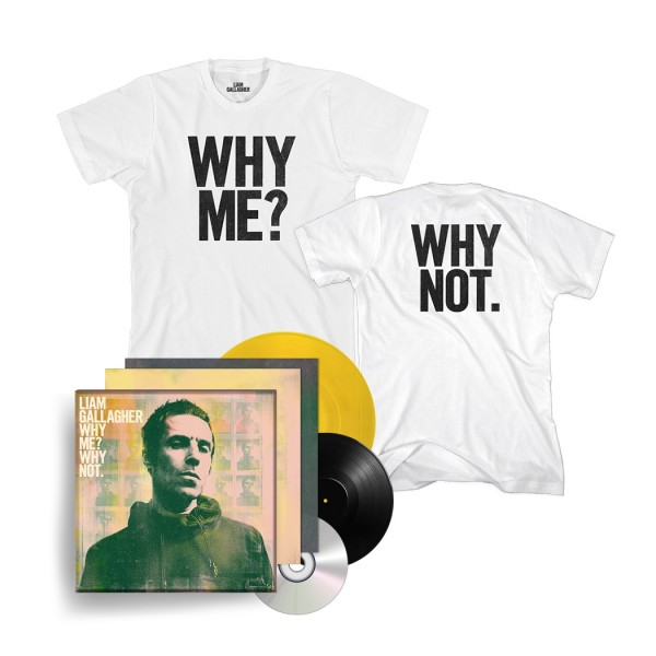 Why Me? Why Not. Collector Edition Vinyl and T-Shirt Bundle