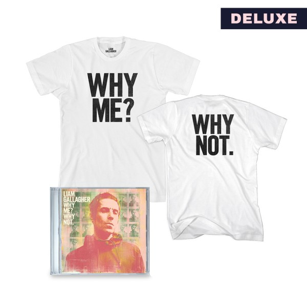 Why Me? Why Not. Deluxe CD and T-Shirt Bundle