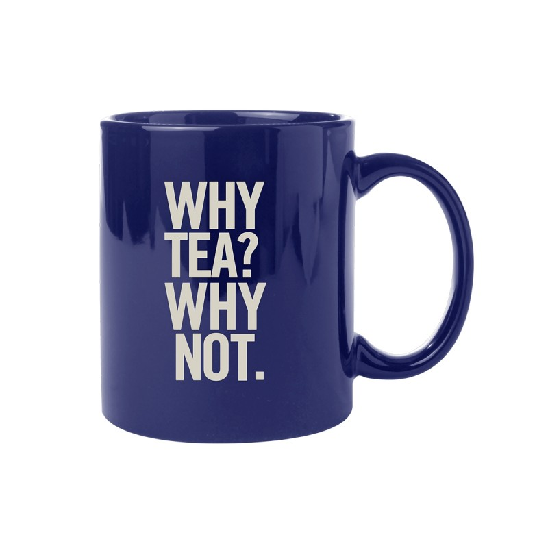 Why Tea Why Not Mug Navy