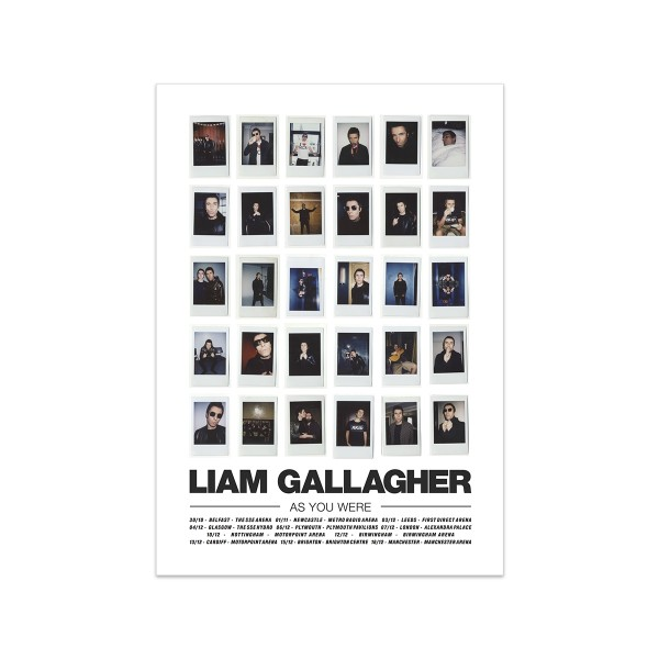 Liam Gallagher Tour Poster - Liam Gallagher Merchandise