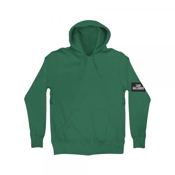 Liam Gallagher Patch Green Hoodie