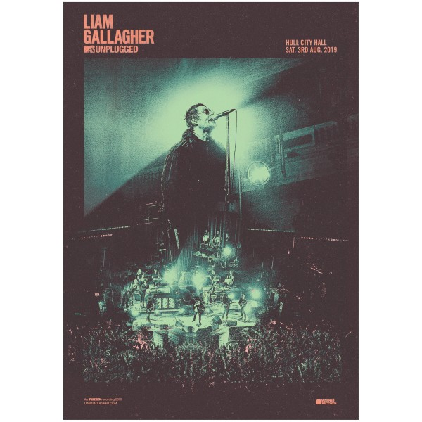 Liam Gallagher MTV Unplugged Poster
