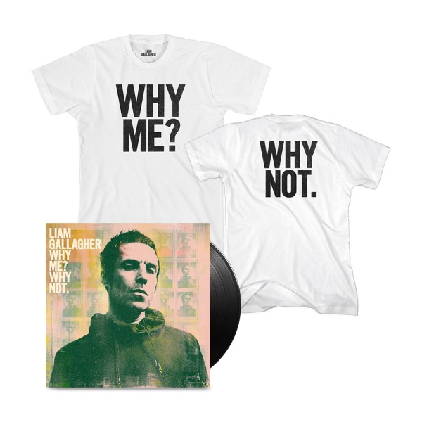Why Me? Why Not. Vinyl and T-Shirt Bundle