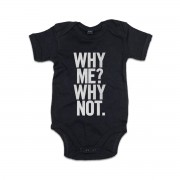 Why Me Why Not Babygrow Black