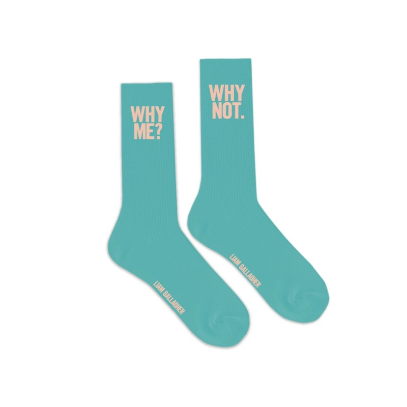 Why Me Why Not Socks Blue