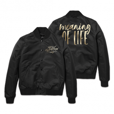 Embroided Meaning of Life Jacket