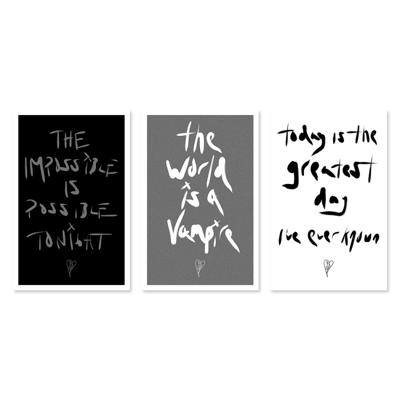 Trio Handwritten Lyric Poster Set