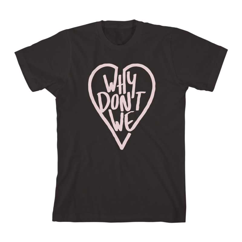 Why Don T We What Am I: Why Don't We Marker Heart T-Shirt