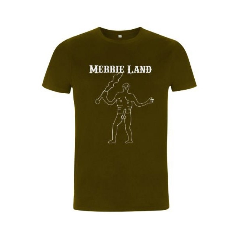Merrie Land Khaki T-Shirt (White Giant)