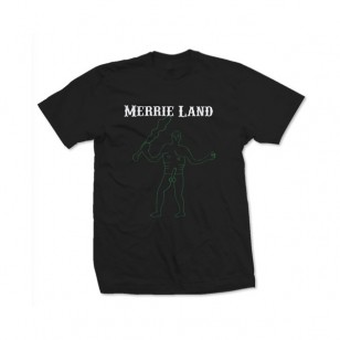 Merrie Land Black T-Shirt (Green Giant)