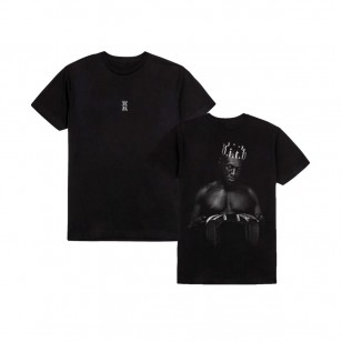 Crown Photo Flag T-Shirt Black
