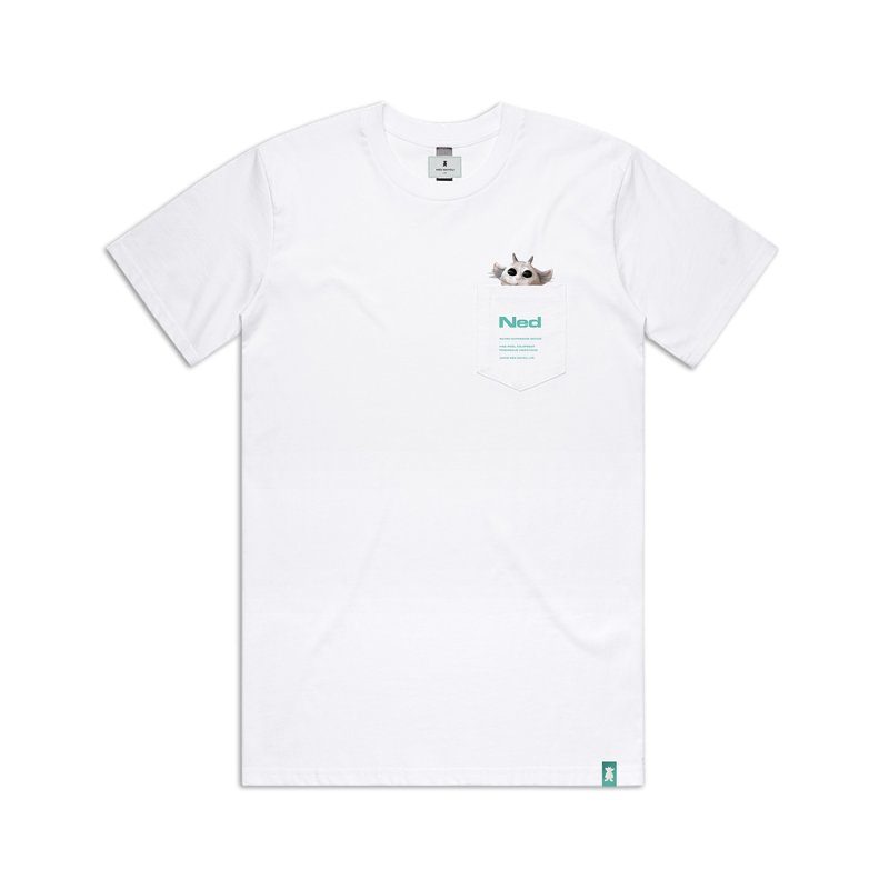 Pocket T-Shirt White (Apparel)
