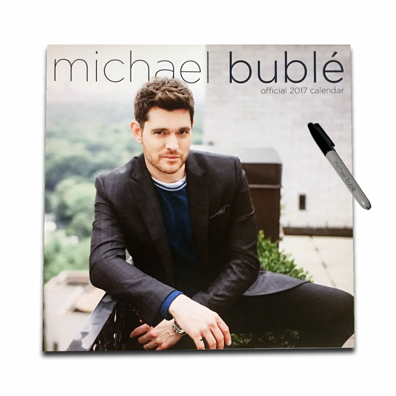Official 2017 12-month Michael Bublé wall calendar