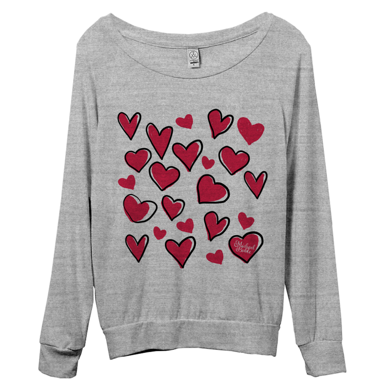 Floating Hearts Pullover