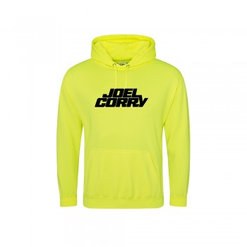 Black Solid Logo Hoodie Electric Yellow (S) (Apparel)
