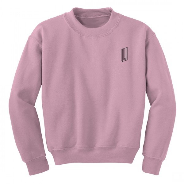Bars Crewneck (Light Pink)