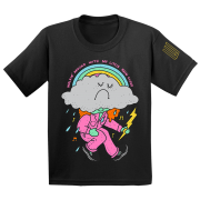 Hard Times Rain Cloud Rainbow Kids T-Shirt
