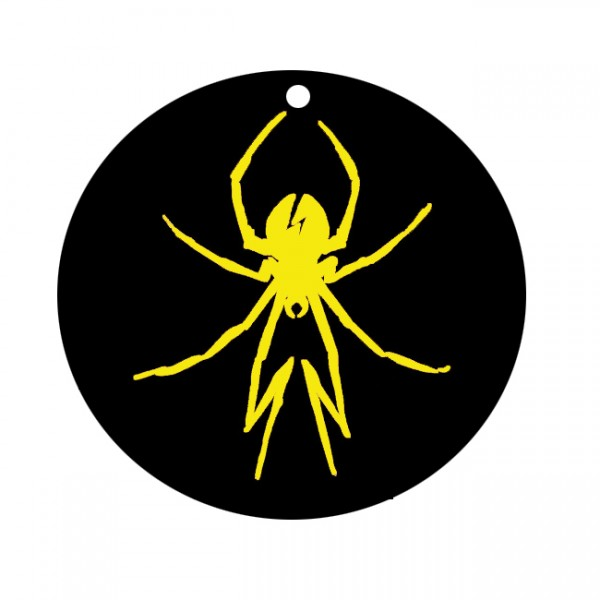 Yellow Spider Air Freshener