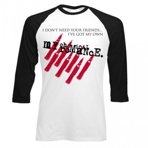 MCR Friends Slim Fit Raglan T-Shirt