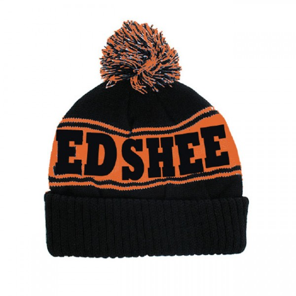 Orange Summer Stripe Bobble Hat