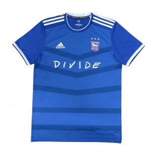 DIVIDE IPSWICH TOWN FOOTBALL SHIRT BLUE