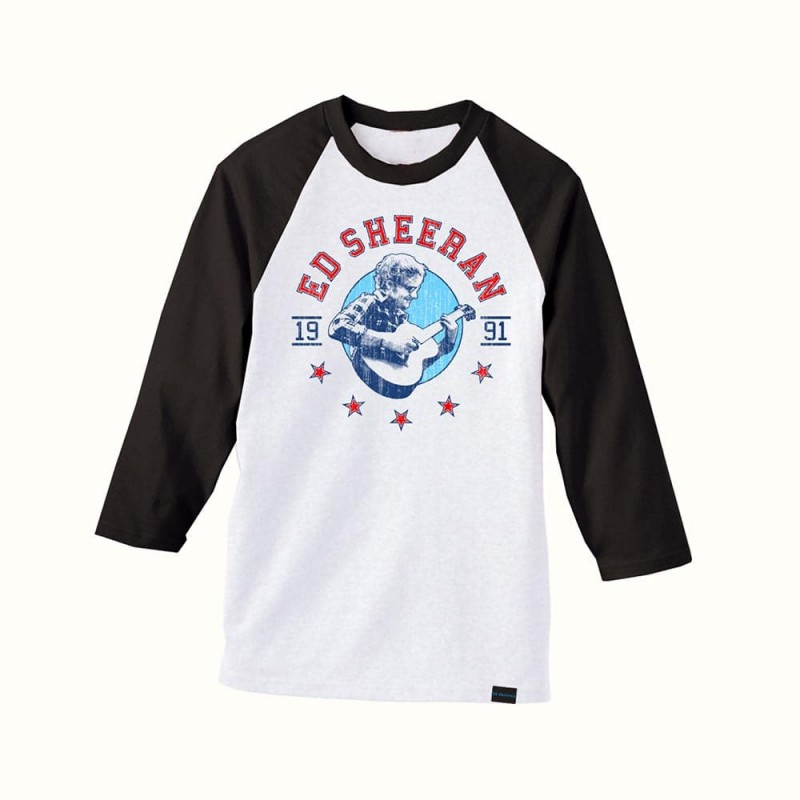 Ed Sheeran - Folk Star Baseball T-Shirt (front)