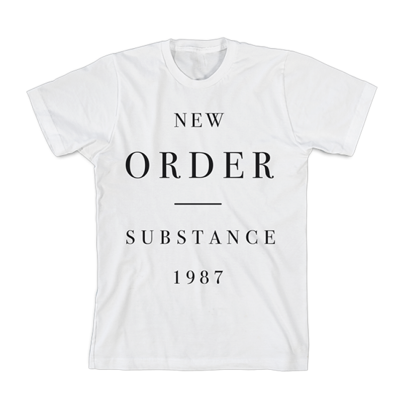 New Order Substance White T-Shirt