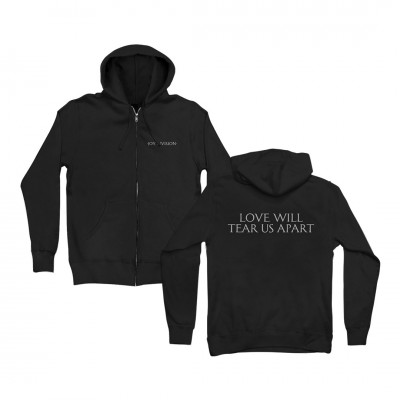 Love Will Tear Us Apart Black Zip Hoodie