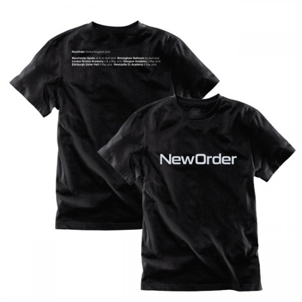 New Order 2012 Tour Black T-Shirt