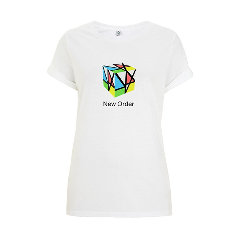 Music Complete Cube Ladies White T-Shirt