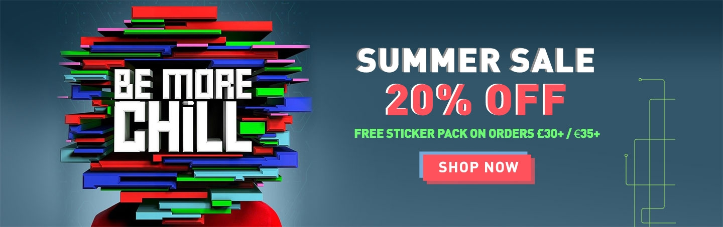 Summer sale! Up to 20% off plus a free sticker pack on orders over £30