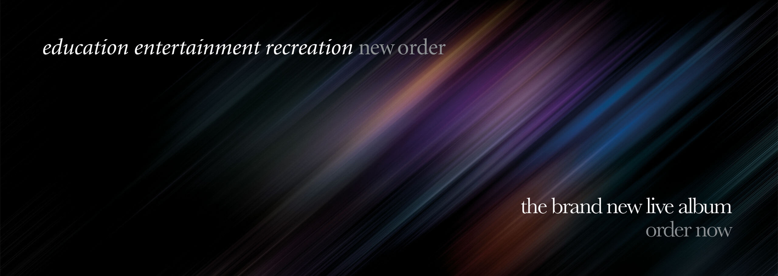 New Orders new album - education, entertainment, recreation. Buy now.