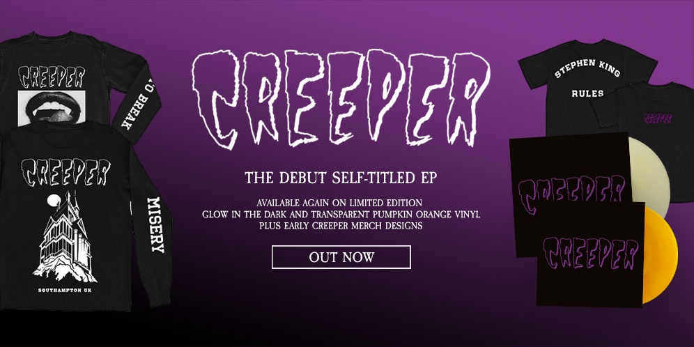 Creeper - The debut self-titled EP - availablbe on limited edition glow in the dark vinyl